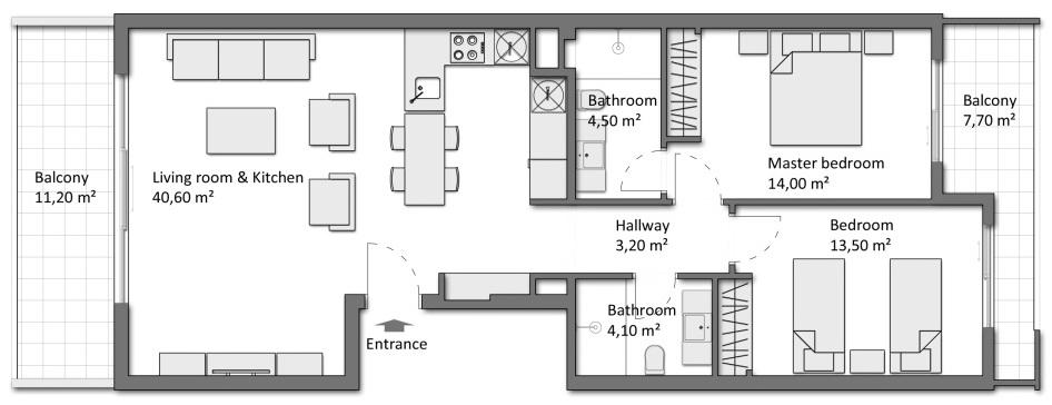 ПРОДАЖА апартаментов Nympheum 2+1 Сиде Турция