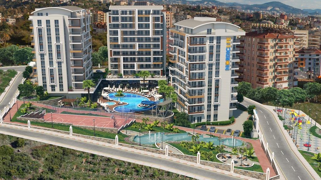 Продажа апартаментов в комплексе Nordic Life Тосмур Аланья Турция