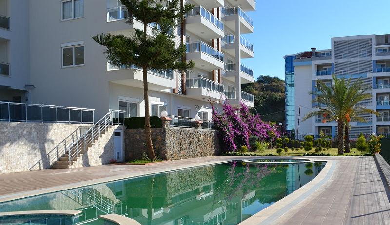 Kestel Residence 1 (1+1) — Продажа квартиры с мебелью в Аланье (Кестель)