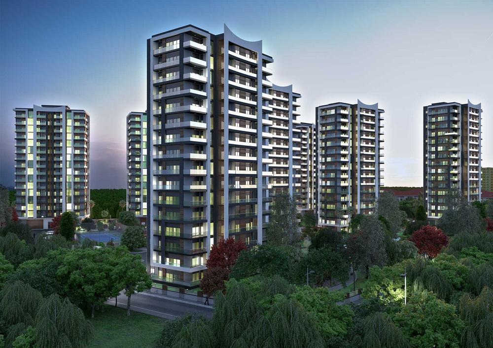 Rengi Antalya Dosemealti (3+1) — Огромные квартиры с газовым отоплением в Анталии