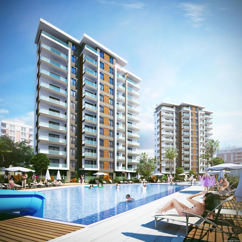 Tepesehir Dosemealti (2+1) — Новые апартаменты без мебели в Анталии (Дёшемеалты)