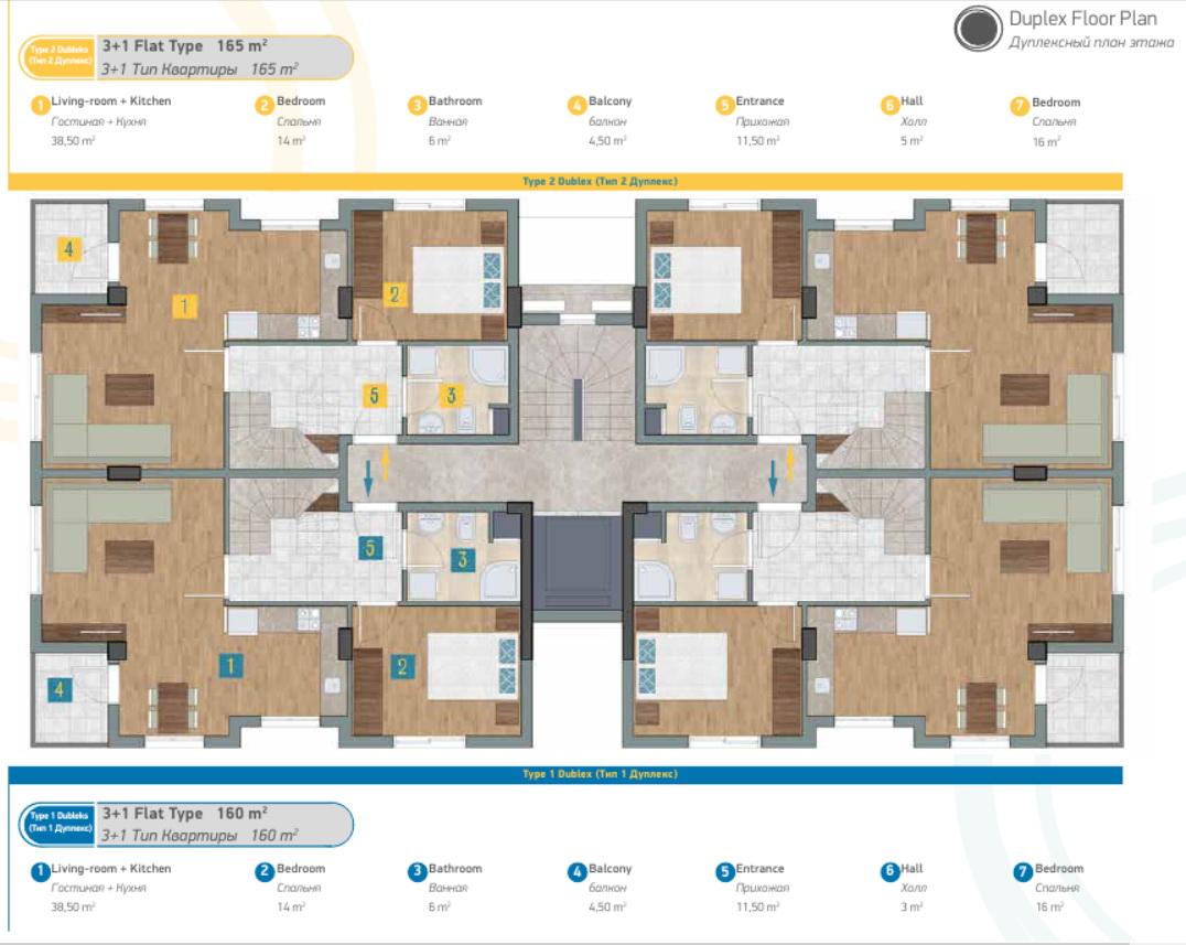 Продажа апартаментов в комплексе Sunlife Residence в Анталии, тип квартиры - 1+1, 2+1, 3+1, фото 2