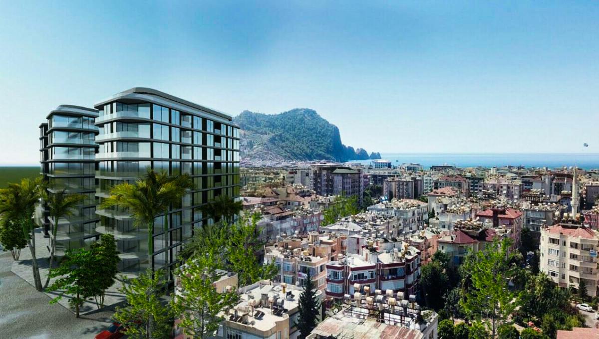 Konak Cleopatra Twin Towers — Апартаменты в строящемся комплексе в центре Аланье
