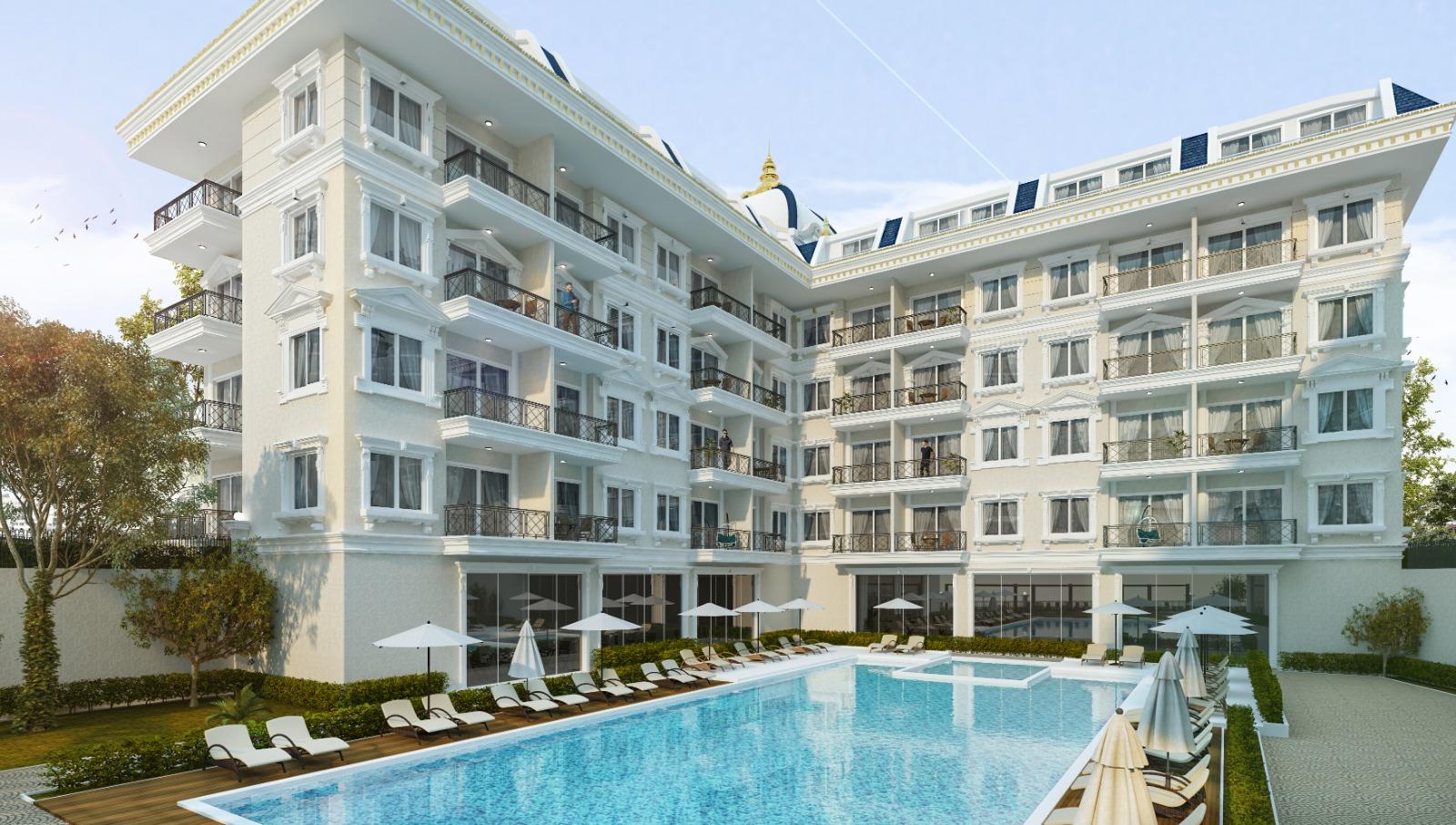 White Palace Residence — Продажа апартаментов в комплексе с инфраструктурой СПА-отеля Аланья (Оба)