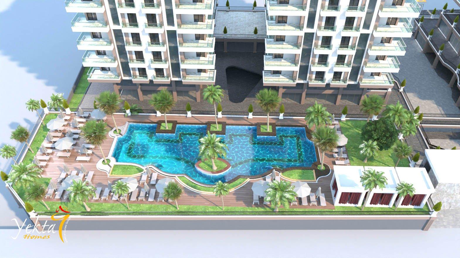 Yekta Kingdom Trade Center — Продажа апартаментов в новом комплексе Аланье (Махмутлар)