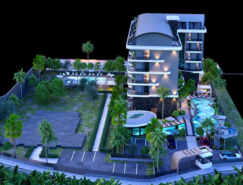 Boutique 16 — Продажа апартаментов на этапе СТРОИТЕЛЬСТВА в Аланье (Каргыджак)