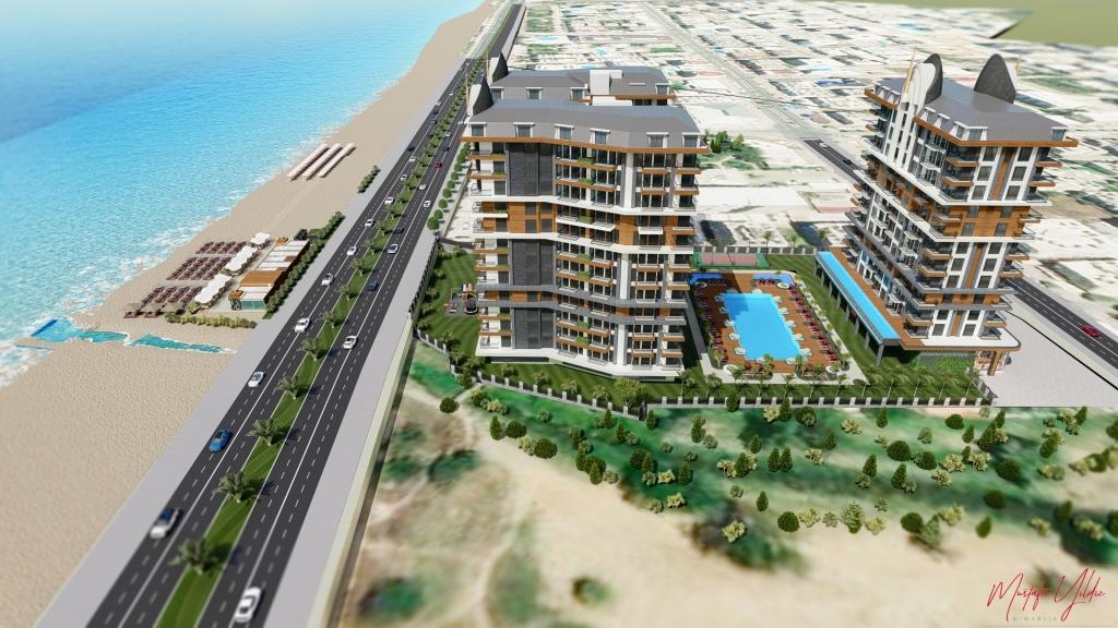 Cebeci Towers — Продажа апартаментов в новом комплексе на ПЕРВОЙ береговой линии Махмутлара (Аланья)